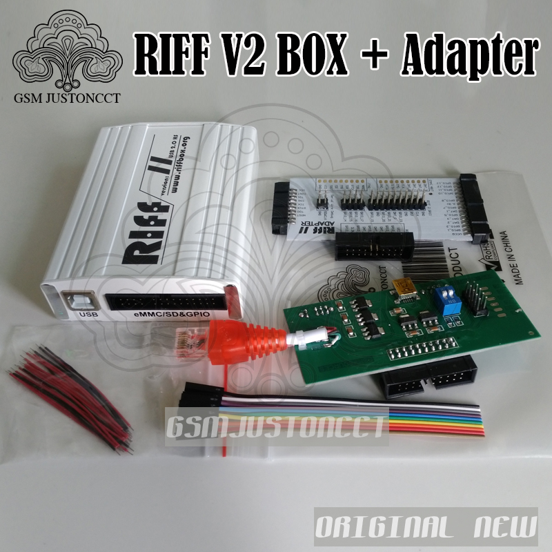 Free Shipping 2019 Original New Riff V2 Box / Riff Box + Adapter For LG&HTC, For Samsung Mobiles Repair And Flash