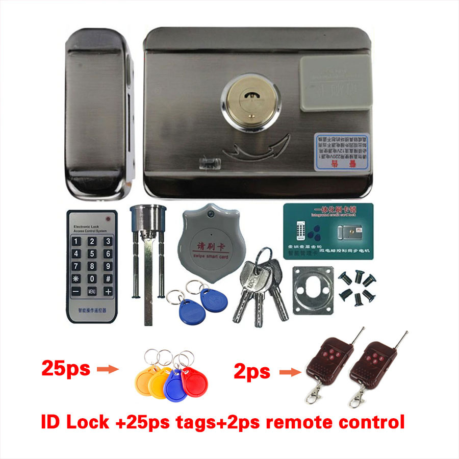 Fast Delivery Electric Door And Lock Castle Electronic Access Control Integrated RFID Door Lock Remote Control Optional