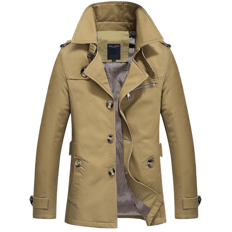 2016 Trench Coat Mens Jacket 5xl Autumn Long Trenchcoat