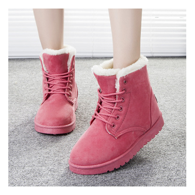 Women's Winter Fur Lined Suede Ankle Boots