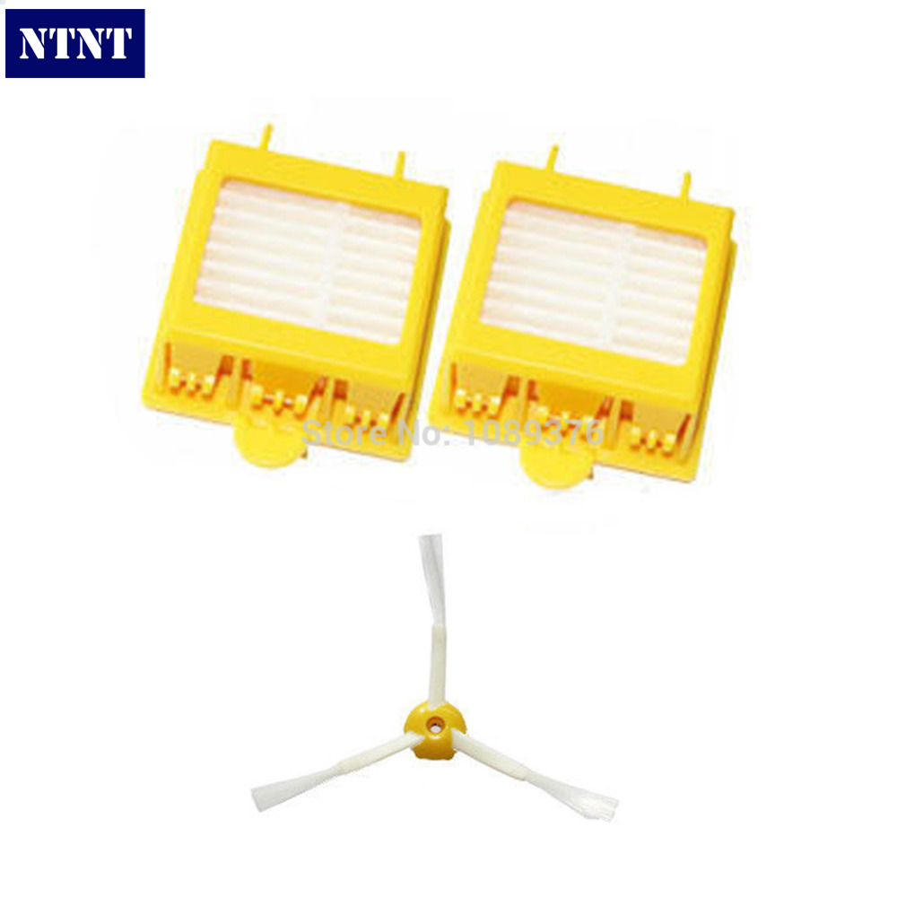 NTNT Free Post New 2 Filters + Side Brush 3 Armed for iRobot Roomba 700 Series 760 770 780 ntnt free post new 50x side brush 3 armed for irobot roomba 500 600 700 series 550 560 630 650 760