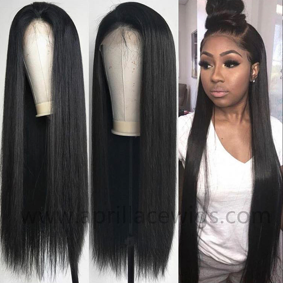 Satai 4 4 Lace Closure Wig Pre Plucked Lace Front Human Hair Wigs Brazilian Straight Lace