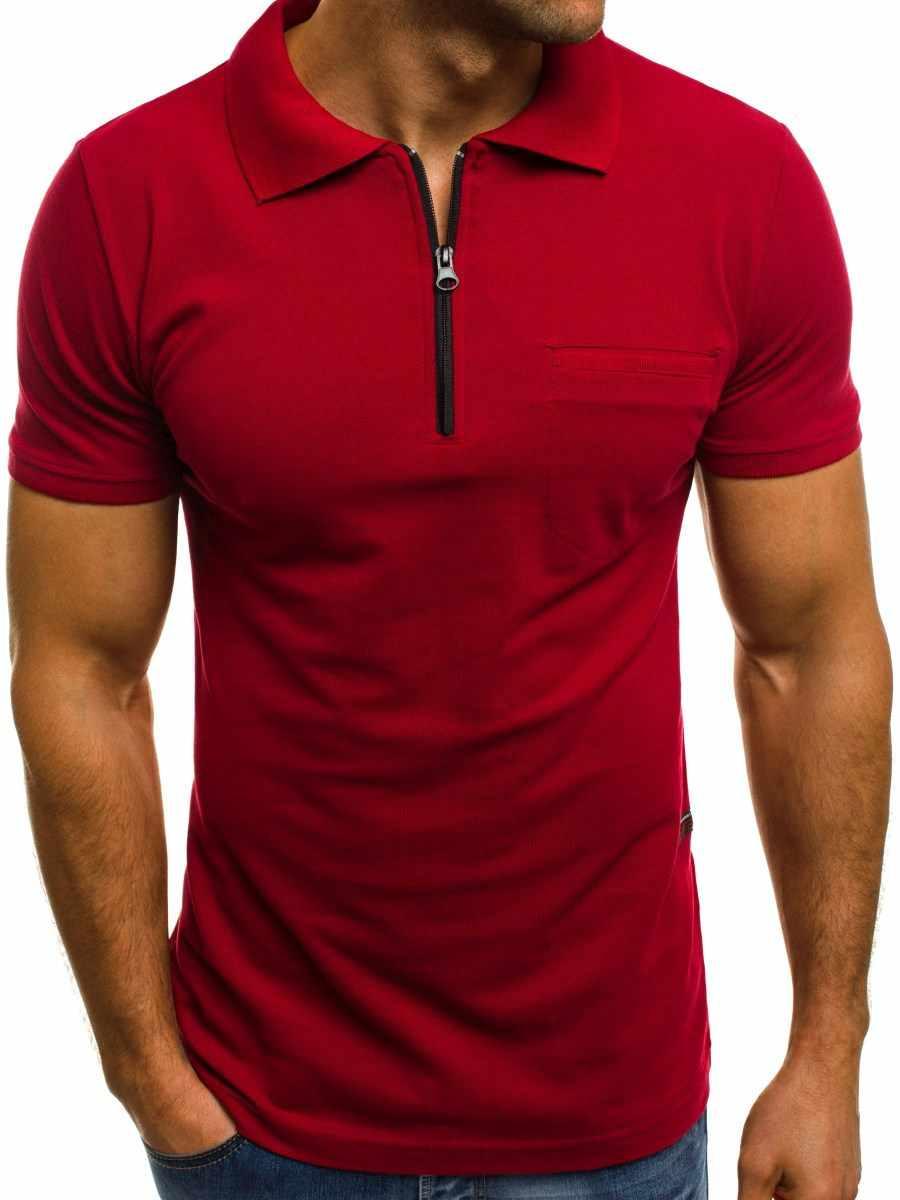 2019 새로운 패션 남자의 순수 컬러 폴로 셔츠 캐주얼 짧은 소매 폴로 셔츠 큰 크기 3xl 브랜드 남자 의류