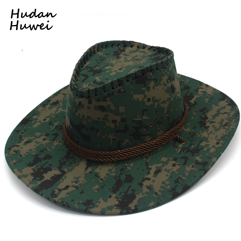 Detail Feedback Questions about Western Denim Cowboy Hat for Men Women  Summer Unisex Beach Sun Hat Wide Brim Camouflage Outdoor Sunhat for Adults  GH 530 on ... 72011553a82