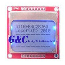 84x48  LCD Module Blue Backlight Adapter PCB 5110 LCD