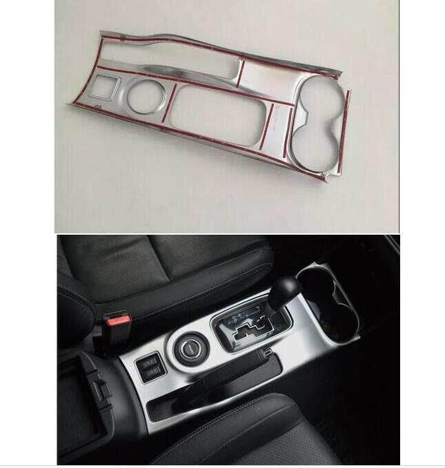 ФОТО For Mitsubishi Outlander 2016 chrome Console rear seat CUP Holder cover trim 1pcs car-styling