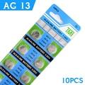 Ycdc real novo botão de alimentação da bateria de 10 pcs ag13 lr44 357A S76E G13 Botão Bateria de Célula tipo Moeda Baterias 1.55 V Alcalinas EE6214