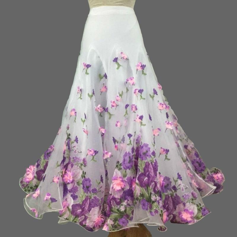 New Ballroom Skirt Long Ballroom Dance Skirts For Women Waltz Standard Ballroom Skirts Women Custom Size