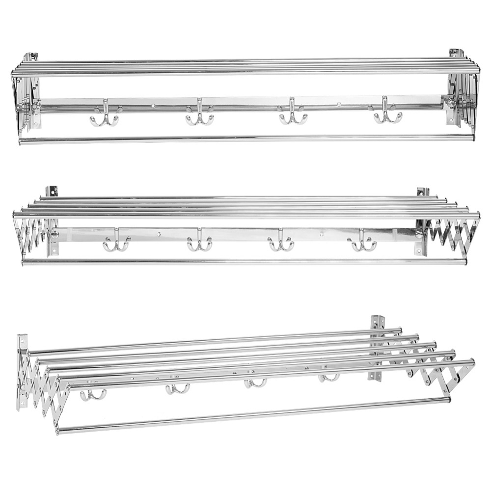 TOPINCN Stainless Steel 80cm Foldable Clothes Rack Balcony
