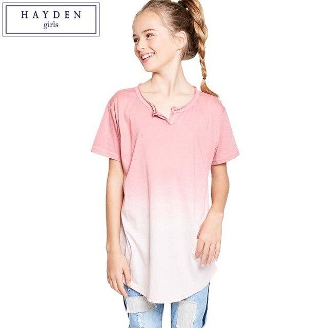f27271cd06b66 HAYDEN Filles T-shirt À Manches Courtes Ombre T-Shirt pour Enfants  Adolescent Enfants