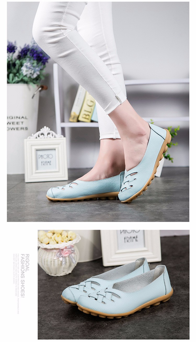 Hot Sale 2016 Spring New PU Leather Woman Flats Moccasins Comfortable Woman Shoes Cut-outs Leisure Flat Woman Casual Shoes ST181 (34)
