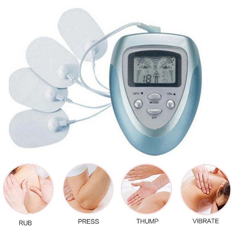 Vücut masajı elektrikli masaj kiti EMS stimülatörü tam vücut Relax kas terapi darbe onlarca akupunktur masajı dropshipping