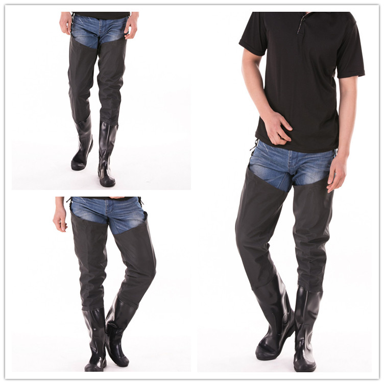 ФОТО Outdoor Black Pants Catch Fishing Boots Neoprene Waterproof Fishing Waders Men Women Overalls Fly Fishing Shoes