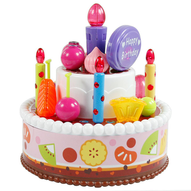Baylor Star Musical Birthday Cake Candles Lit Childrens Play House Toys Freedom Of Assembly Recording