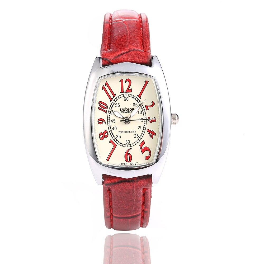 2018 New Fashion Women Watch Casual Watch Square Dial Ladies Retro Luxury Leather Strap Quartz Wristwatches