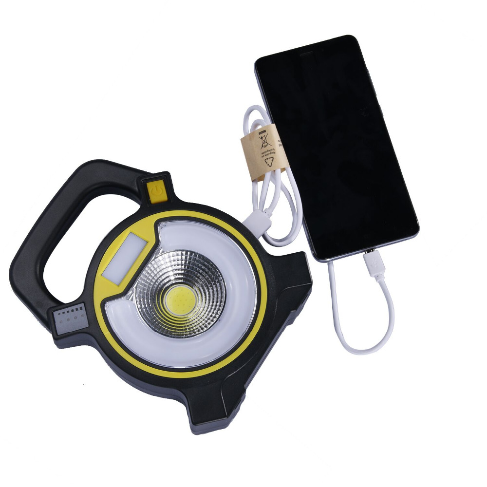SKYWOLFEYES Powerful COB LED Light Lamp Portable Power Bank USB charging 4-modes Lantern Tent Light Lamp For 2x18650 Battery