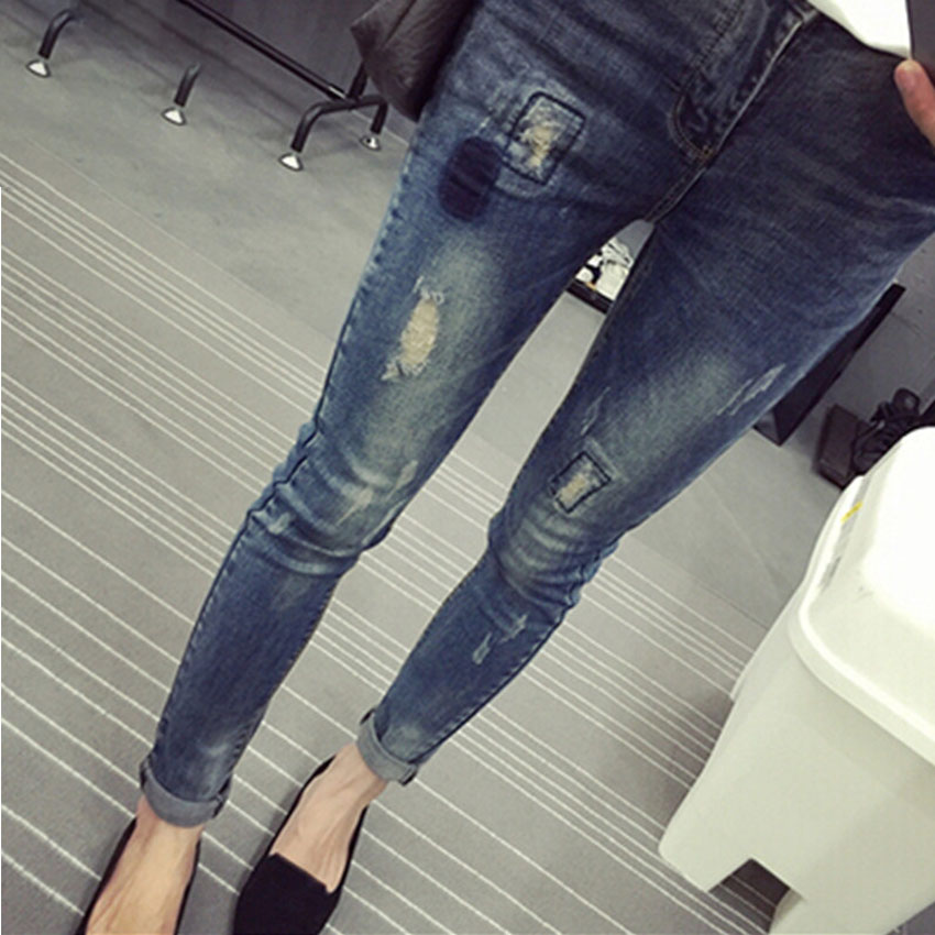 Elastic waist Stretch Denim Maternity Jeans For Pregnant Women Autumn Spring Pants Clothes For pregnancy Women Pencil Trousers autumn women fashion jeans high waist button denim jeans full length pencil pants feminino trousers page 6