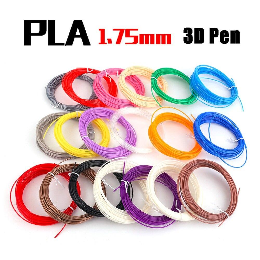 19 Pcs Set 3D Printing Pen ABS Supplies Standard Color Environmentally Friendly Plastic Line Filament 10M
