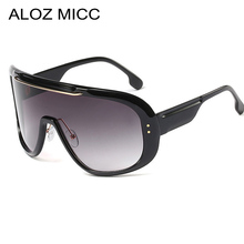 ALOZ MICC Oversized One Piece Square Sunglasses Women Men Brand Design Retro Sun Glasses Ladies Shades Windproof Goggles Q275