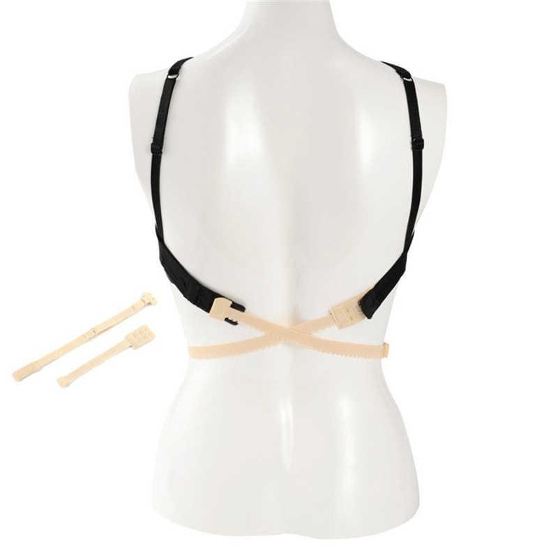 Venta caliente mujeres ajustables baja espalda correa sin espalda sujetador Adaptador convertidor completamente extensor gancho
