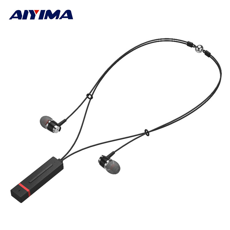 AIYIMA Audifonos Necklace Headsets Bluetooth Sport Earphone Headphone Wireless Stereo Music Gaming Headphones economic set original nia q1 8 gb micro sd card a set bluetooth headphone wireless sport headsets foldable bluetooth earphone