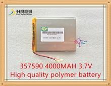 Bateria de Lítio Polímero com Conselho Proteção para Pda 1 Pcs Tamanho 357590 3.7 V 4000 Mah de Tablet Produtos Digitais Frete Grátis