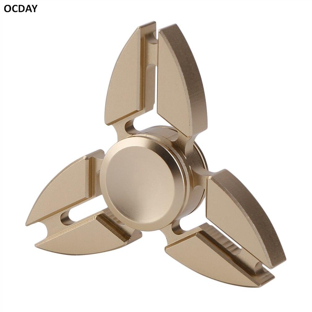 Ocday 2017 hand spinner crab triangle spiner toys autism adhd metal fingertips gyroscope edc sensory fidget