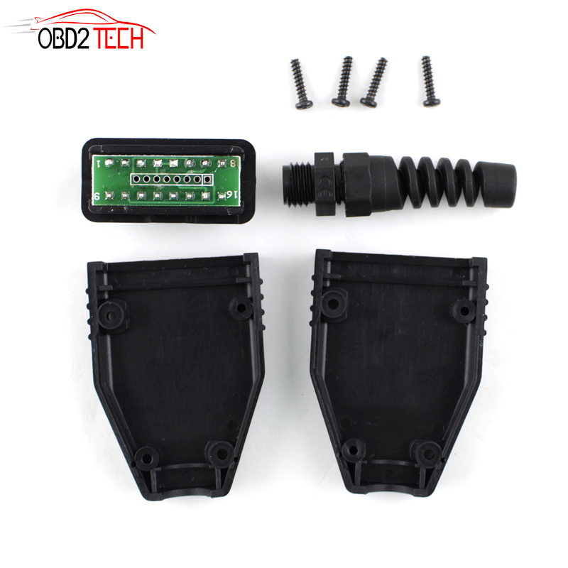 16Pin OBD2 Connector OBD 2 16 Pin OBD II Adaptor OBDII J1962 Connector Car Diagnostic Cable Male Plug Adapter
