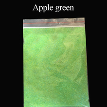 10 Apple Green Glitter   pearl powder paint coating Automotive Coatings ceramic art crafts coloring dye 50g per pack