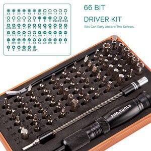 Image 2 - KALAIDUN 69 in 1 Precision Screwdriver Set with 66 Bit Magnetic Driver Kit Hand Tools Electronics Repair Tool Kits