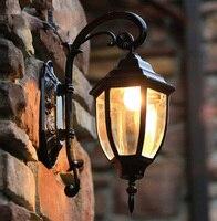 Işıklar ve Aydınlatma'ten LED Dış Mekan Duvar ışıkları'de Avrupa tarzı high end bahçe dış duvar lambası döküm alüminyum su geçirmez duvar lambası Içerir LED ampul ücretsiz kargo