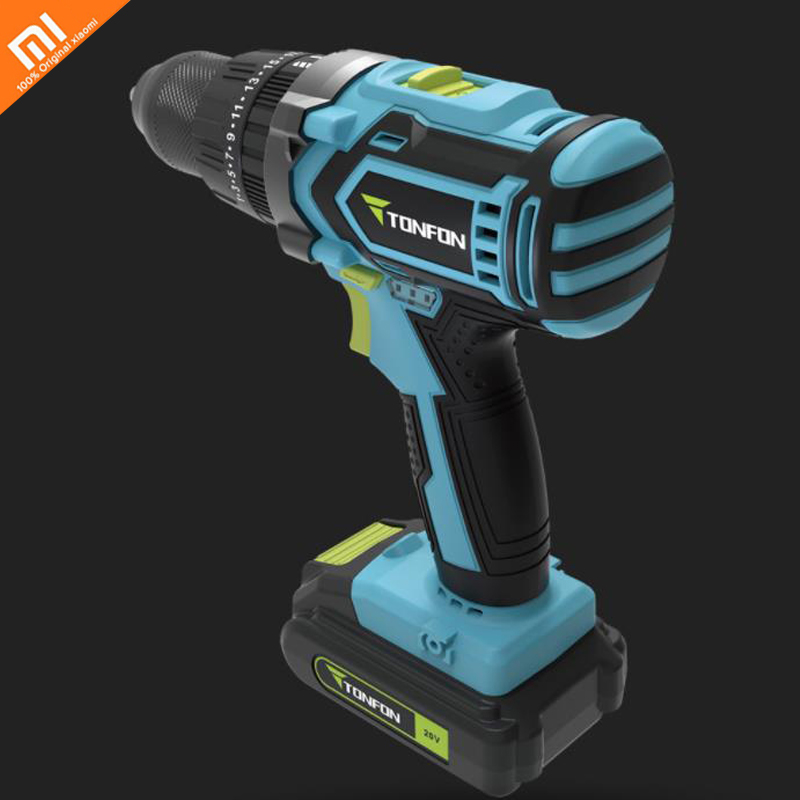 Xiaomi Mijia High power and large torque portable mini wireless use rechargeable 20V impact drill Smart