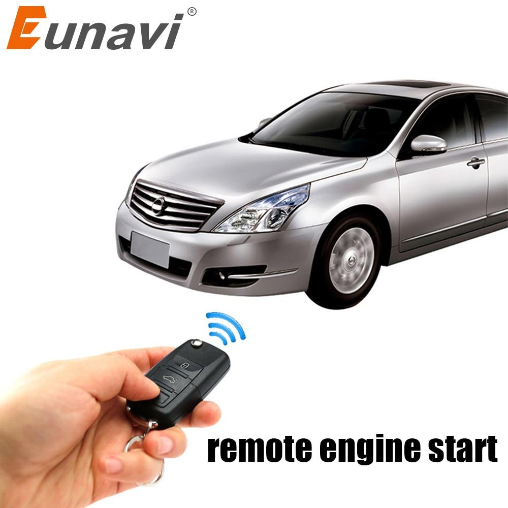 Eunavi à distance sans clé poussoir start stop bouton d'arrêt de démarrage à distance moteur de la voiture par alarme à distance déverrouiller d'action fenêtre automatique sortie