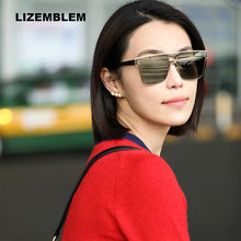 3f0b03ae26 Square Oversized Sunglasses Women Fashion Sun Glasses Lady Brand Designer  Vintage Shades tmall Gafas Oculos de sol UV400 gozluk