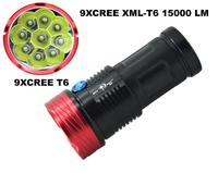 skyray led flashlight 15000Lumen 9x CREE XML 9T6 LED Flashlight Torch 3 mode Hunting Work Lamp 4*18650 battery