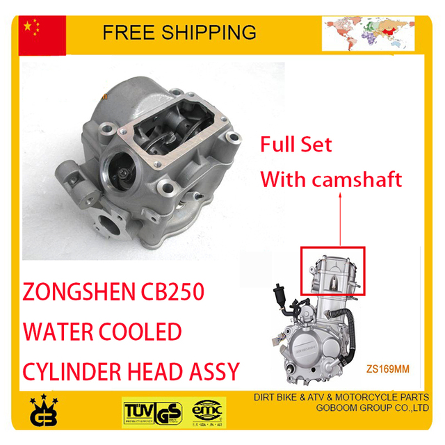 cqr KAYO BSE 250cc dirt pit bike atv quad ZONGSHEN CB250 water cooled engine cylinder head camshaft motorcycle accessories