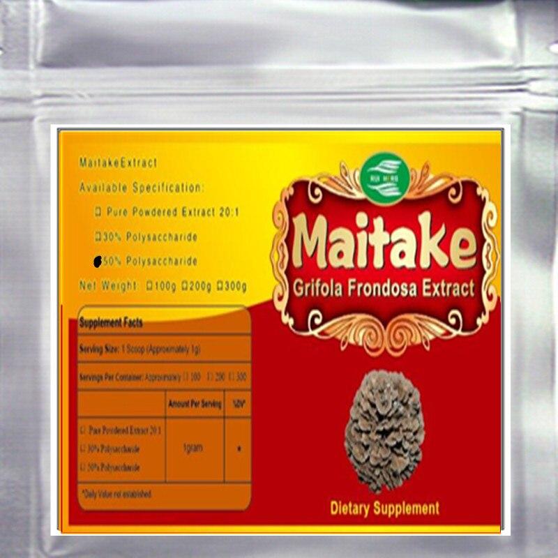 1000 gram Grifola frondosa Extrato de Maitake Extrato 50% Polissacarídeo pó frete grátis