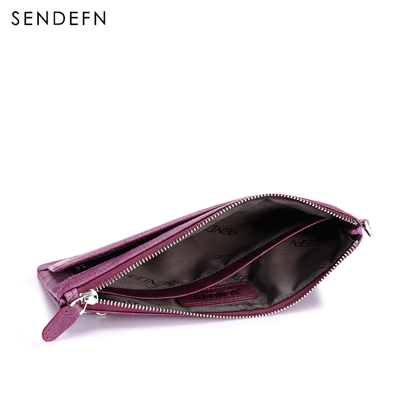 sendefn zíper da bolsa da Construction : Card Slotes / Inner Zipper Pockets / Coin Compartments