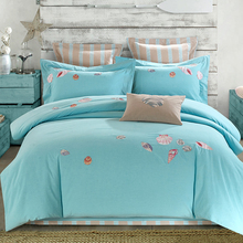 Pure Cotton Bedding sets Soft Bedclothes Embroidery 4Pcs