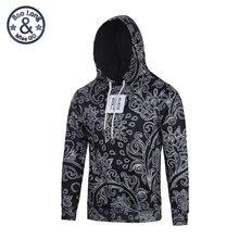 Neue Bandana Hip Hop Hoodies und Sweatshirts Männer Herbst Sudadera Hombre Paisley Schwarz Schweiß Homme Pullover Marke Kleidung