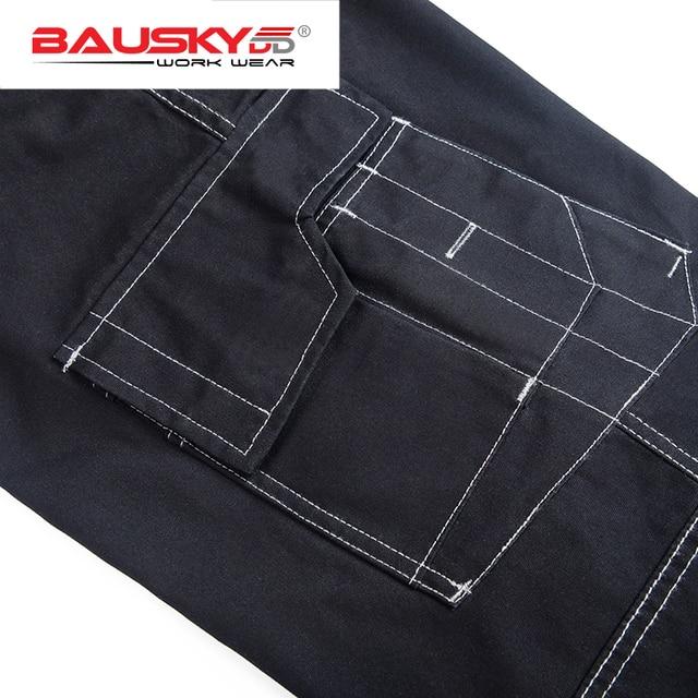 Men's work wear working pants Tool trouser Black work trousers men workwear free shipping 3
