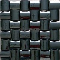 free shipping, metal mosaic ceramic backing wall tile convex 3D stainless steel wall tiles living room backsplash