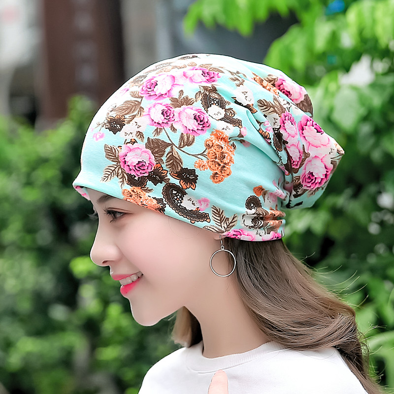 Women Fashion Flowers Print Hat Skullies 2017 Autumn Winter Warm Beanies Pregnant Mother Beanies Caps Windproof Maternity Cap