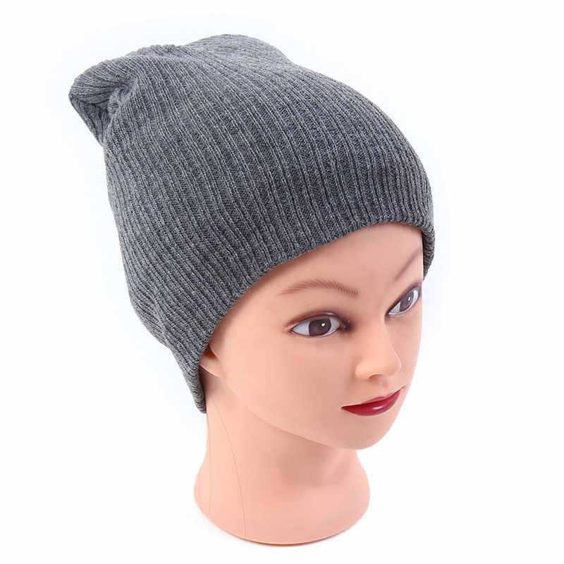 77cd166fd Gorro Men Women's Winter Hats Stretchy Slouch Beanie Light Weight Knit  Skull Cap Black Gray Navy Ivory Royal Blue Red Dark Green