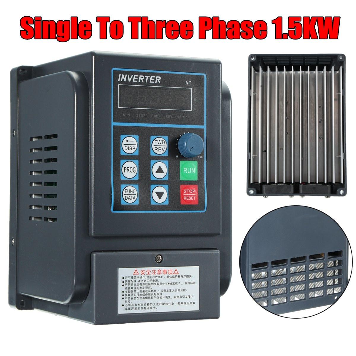 220 V 1.5KW Monophasé entrée et 380 V 3 Phase Sortie Convertisseur de fréquence/Fréquence Onduleur/Réglable Power Pack/VFD