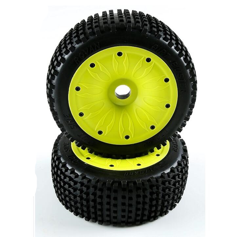 2 pcs um par de pneus off road com conjuntos de montagem do cubo de roda