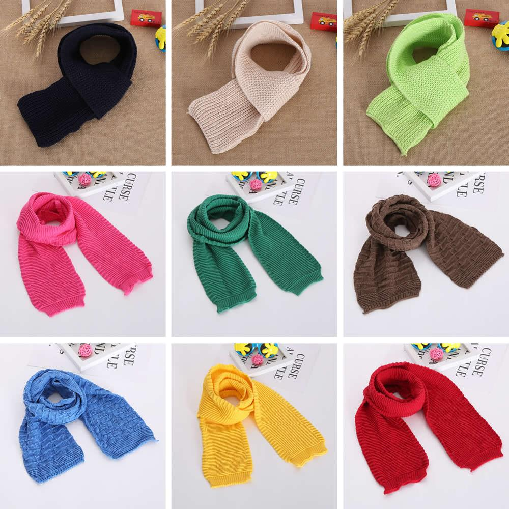 Kids Boy Girl Toddler Children Wool Crochet Knitted   Scarf   Long Loop Head Neck   Wrap   Ring Shawl Hijab Muffer Clutch Winter   Scarves