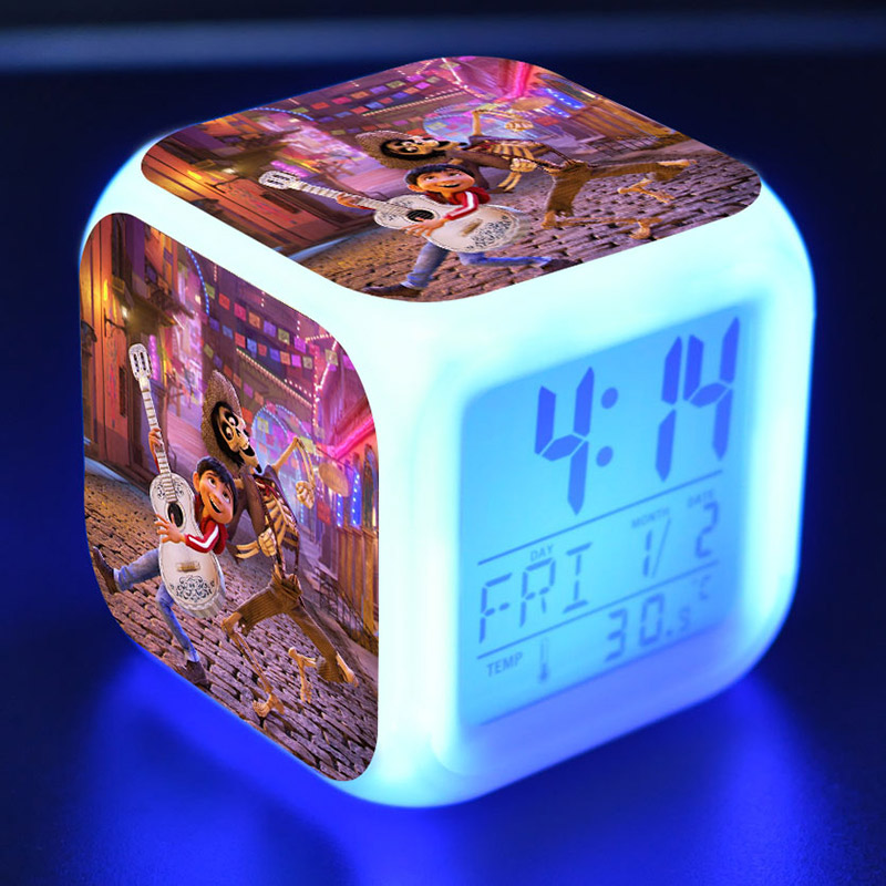 Back To Search Resultstoys & Hobbies Adroit Kids Juguetes Coco Anime Figurines Miguel Led Alarm Clock Colorful Change Light Coco Ernest Cartoon Figure Toys For Children Quality First