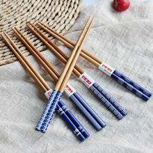 New 5 Pair/set Chopsticks Chinese Reusable Chopstick Set Natural Wooden Japoneses Chop sticks Handmade Gift Pack