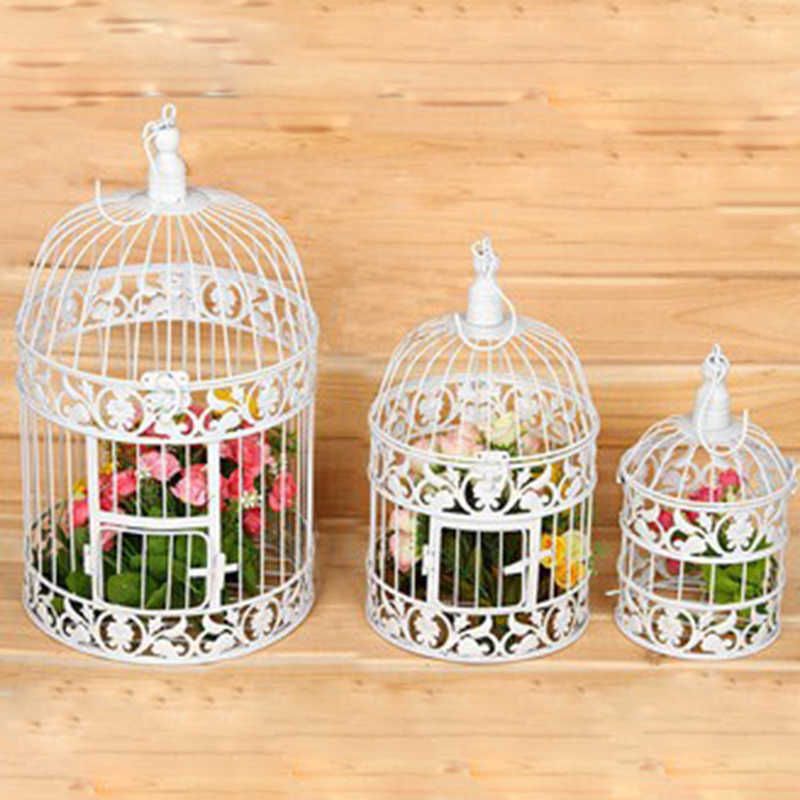 Fashion Large Antique Decorative Bird Cages Hand Made Classic Iron Birdcage for Wedding Decoration